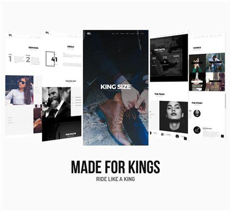 themeforest king size king size creative portfolio template by ex nihilo
