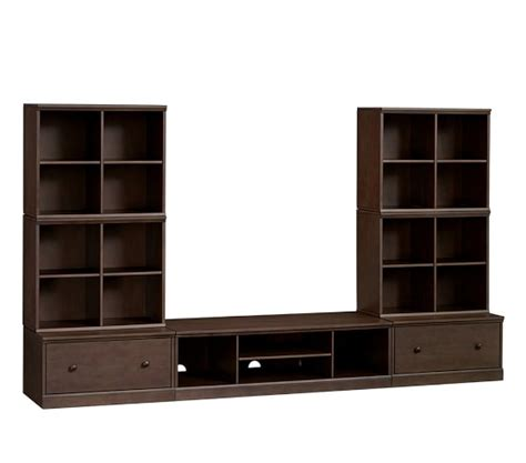 extra large media cabinet cameron extra wide media wall system pottery barn kids
