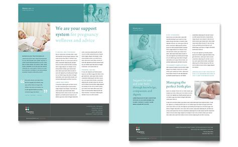 pregnancy clinic datasheet template word publisher