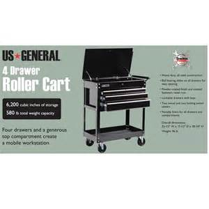 tool cart on wheels with 4 drawers 580 lb capacity