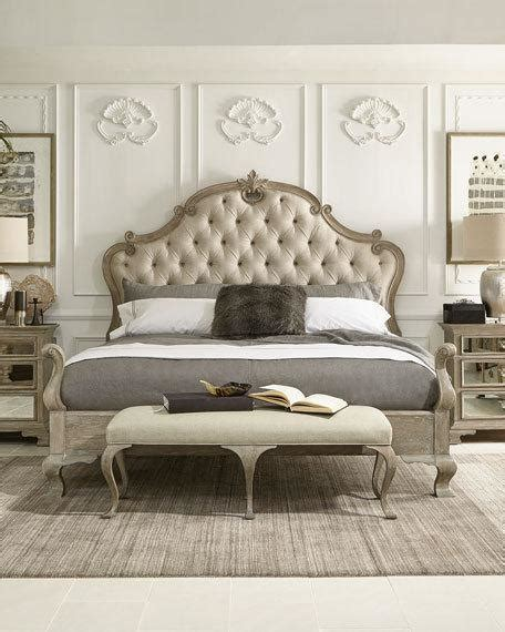 Curtains And Upholstery Bernhardt Ventura Tufted King Bed