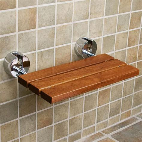 dark teak shower bench clevr 20 quot teak modern folding shower seat bench dark wood