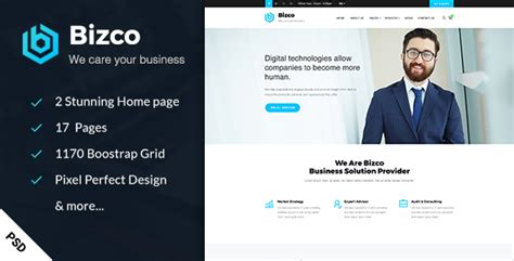 Bizco Business Corporate Html Template bizco business consulting psd template by creativegigs