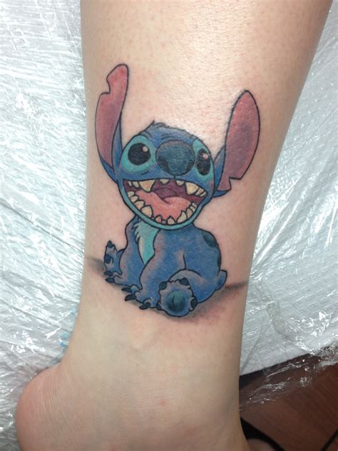 disney tattoo my disney stitch done by at studio 69 in