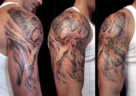 religious half sleeve tattoo half sleeve images designs