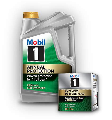 one mobil 20 000 mile change with mobil 1 annual protection
