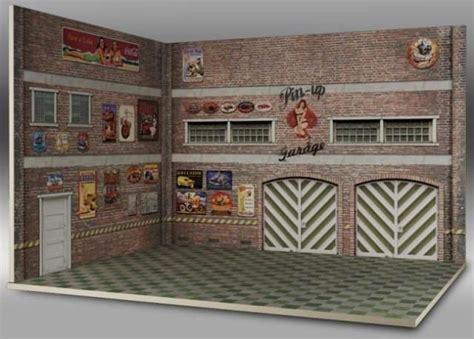 Printable Garage Diorama | printable diorama templates garage bing images