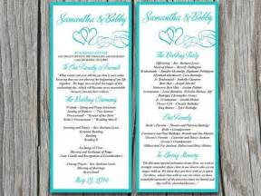 wedding program template microsoft word diy wedding program template printable wedding order of