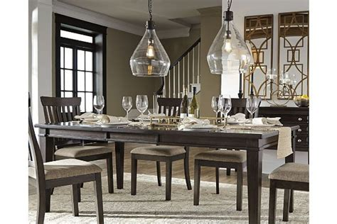 alexee dining room extension table ashley furniture