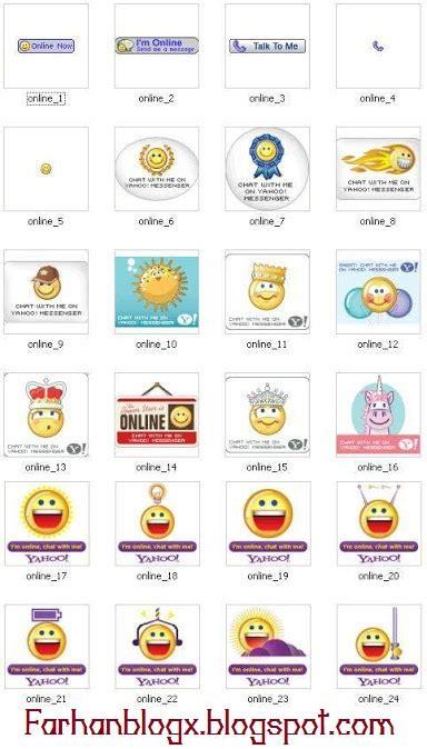 membuat yahoo messenger di website cara membuat status yahoo messenger di blog farhan blogx