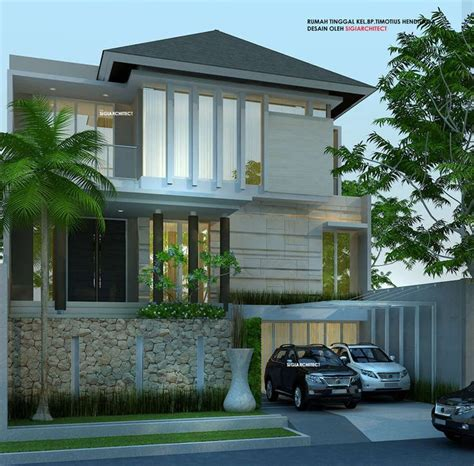 pin oleh ay architects df design  inspiration idea house exterior design rumah