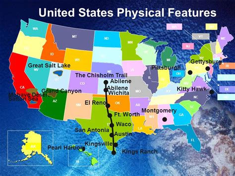 map of the united states physical features united states features ppt video online download