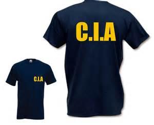 Cia t shirt funny t shirt criminal retro fbi feds usa fancy dress