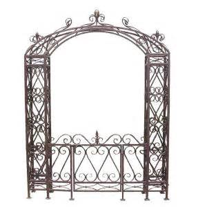 Garden Arbor With Gate Home Depot Design Toscano 68 5 In W X 10 5 In D X 92 5 In H Grand