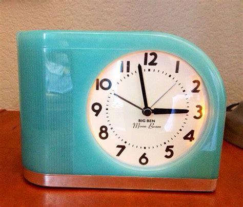 baby blue retro 1950s big ben moon beam gradual alarm clock blinking light clock alarm