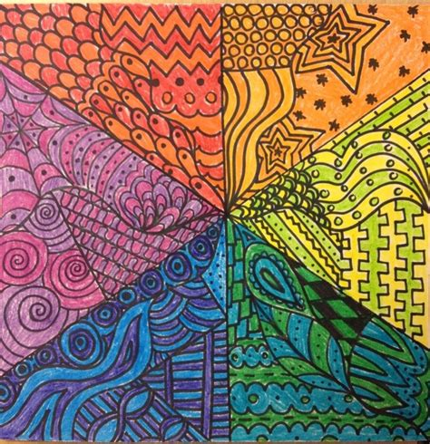zentangle pattern colour zentangle patterns in color www imgkid com the image