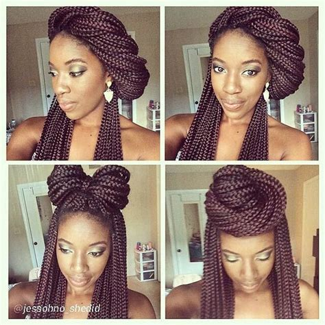 ways to style twisting hair 1000 ideas about box braid styles on pinterest box
