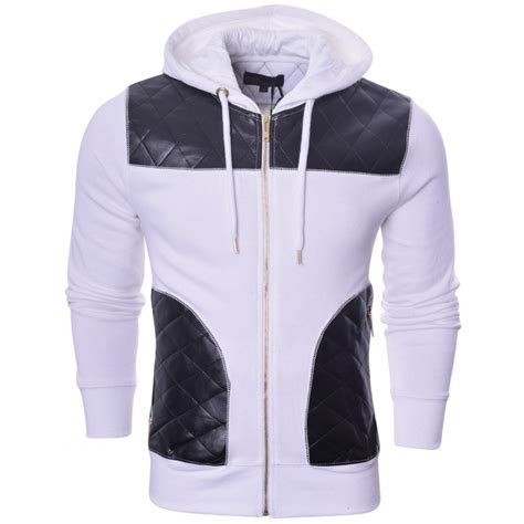 Hoodie Island 1 Zalfa Clothing mens designer king kouture quilted hooded pu top