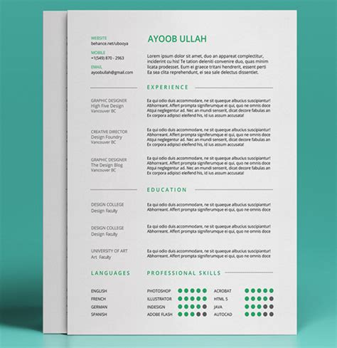 Resume Template Psd Best Free Resume Templates In Psd And Ai In 2017 Colorlib