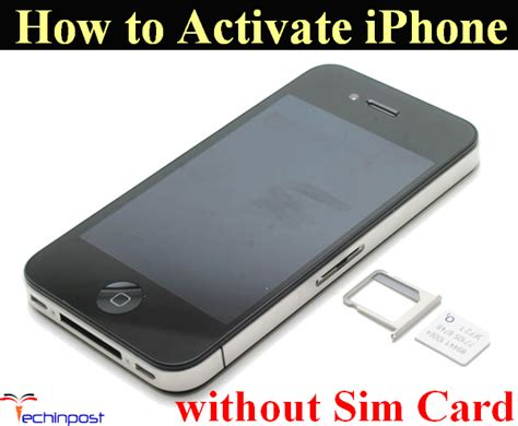 guide how to activate iphone without sim card activation