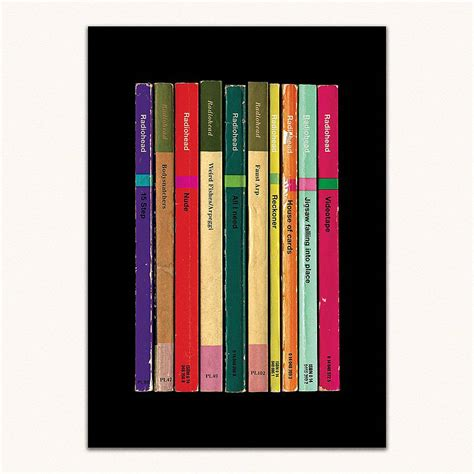 radiohead best album radiohead album in book form print by lime lace