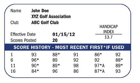 golf handicap  work golf habits