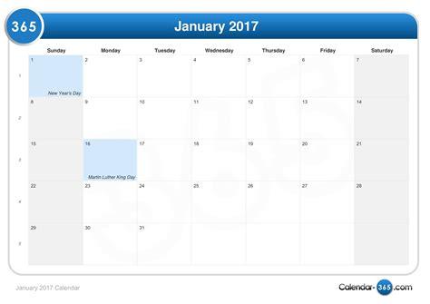 Calendrier F2vrier 2018 January 2017 Calendar