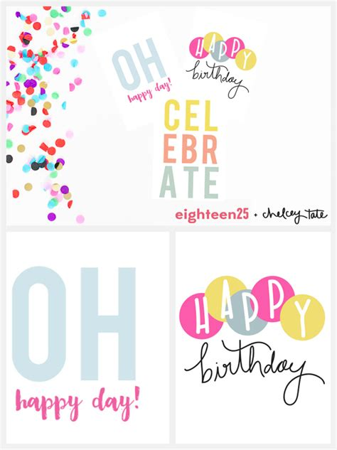 Happy Birthday Card Notes Printable Birthday Note Cards Eighteen25