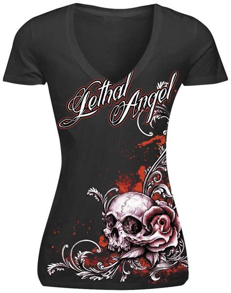 Skull The Shirt Diskon lethal threat womens lethal floral skull t