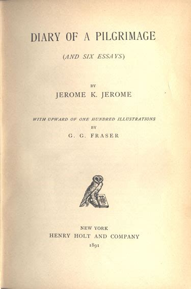 diary of a pilgrimage books the jerome k jerome society 11 diary of a pilgrimage