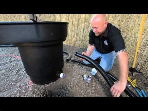 how to build a fish pond part 2 waterfall filter