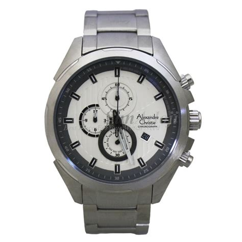 Jam Tangan Alexandre Chistie Ac 8438 Silver Black jam tangan original alexandre christie ac 6385mc collection