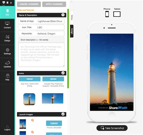 design app builder mobile church app builder connect with your congregation