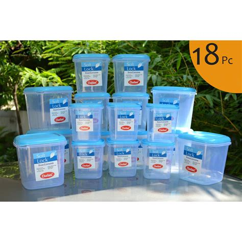 plastic storage containers kitchen buy chetan set of 18 pcs plastic airtight kitchen storage