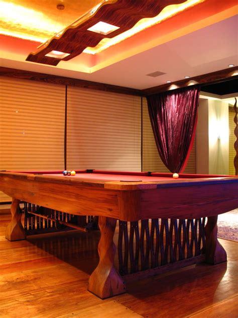custom pool table cue rack  lighting fixture