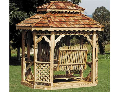 gazebo swing treated pine double roof oval gazebo swings gazebo