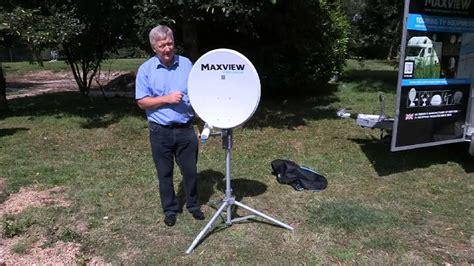 sat schüssel in der wohnung aufstellen aufstellen der mobilen sat antenne maxview precision