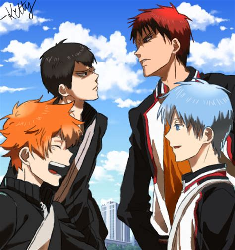 Kalender Poster Kuroko No Basket And Haikyuu haikyuu and kuroko no basket crossover by drawnbykitty on