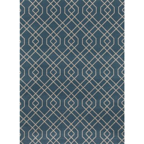 Modern Trellis Rug world rug gallery modern trellis design blue 7 ft 10 in x 10 ft 2 in area rug 114 blue 7 10