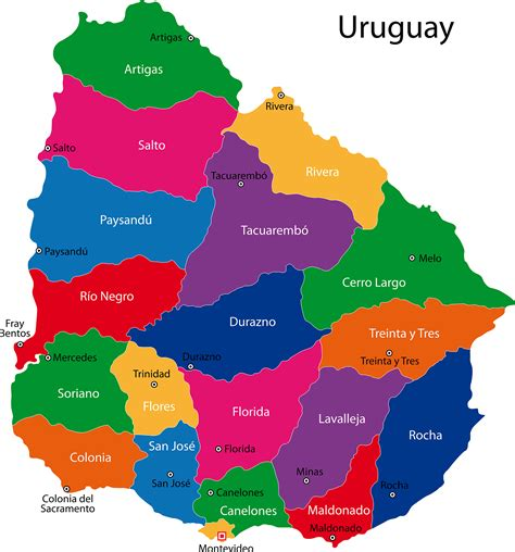 map of uruguay uruguay map blank political uruguay map with cities