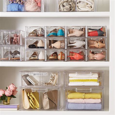shoe storage clear shoe drawers clear stackable shoe drawer the