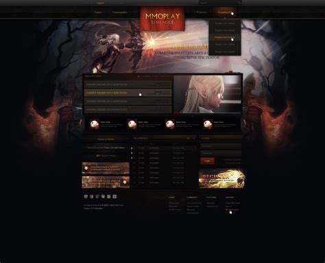 game web layout lineage web design sold by evil s on deviantart