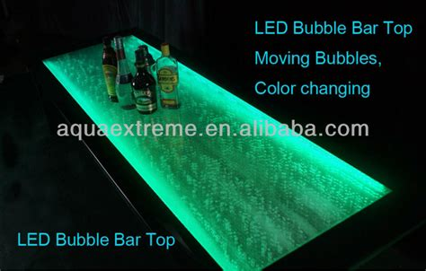 Led Bar Top by Led Bar Counter And Bar Top With Moving Bubbles Buy Tea Counter Wall Water