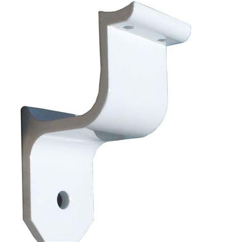 Handrail Wall Bracket ez handrail 1 9 in aluminum ada handrail white wall bracket eza200 w the home depot
