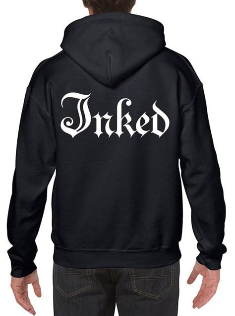 Hoodie Zipper The Division Logo Station Apparel s quot inked logo quot zip up hoodie by inked black