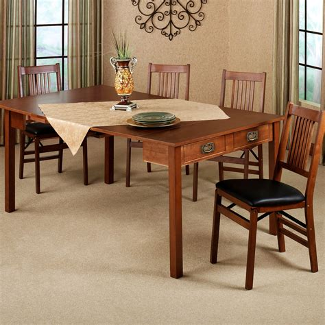 Convertible Kitchen Table Mission Fruitwood Finish Convertible 3 In 1 Table