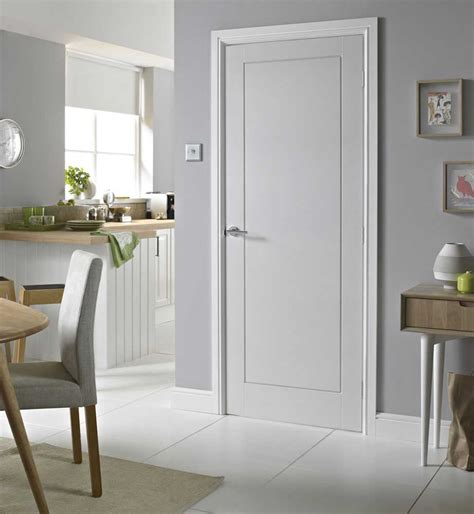 1 panel smooth white primed door
