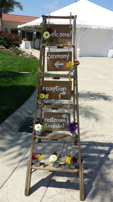 Wooden Ladder Garden Decor How To Decorate Your Vintage Wedding With Seemly Useless