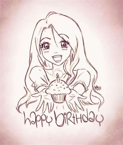 doodle draw anime birthday anime doodle by ladyinsilver on deviantart
