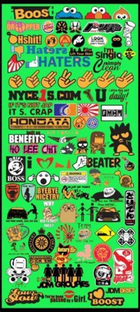 Aq7238 Puzzlavi Sticker Pack 2 Sticker Unik S Kode X7238 3 New Popular Jdm Car Decal Stickers What You See Is